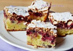 Prajitura cu mure si migdale Inca, Dessert Recipes, Desserts, Food Inspiration, Muffin, Cooking Recipes, Sweets, Cheese, Homemade