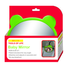 love this baby car mirror by tools of life http://www.amazon.com/Baby-Car-Mirror-Protection-Shatterproof/dp/B00G2NGXVO/