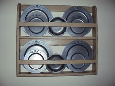 Handmade Primitive Plate Shelf