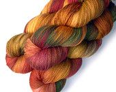 Lace Yarn Merino and Silk - Bright Autumn, 870 yards