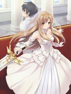 anime couple | Sword Art Online, Kirito and Asuna