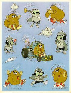 Vintage 80's Hallmark Rainbow Brite Characters Sticker Sheet