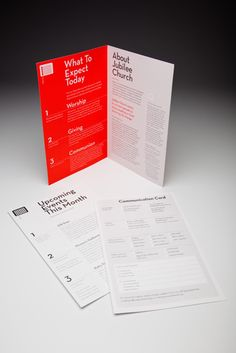 Church Bulletin. The communication card allows guests and regular members to review general info about the church, communicate information about themselves from being new to Jubilee or just updating their contact info.