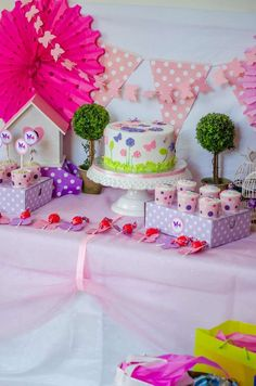 Lovely butterfly baby shower party! See more party ideas at CatchMyParty.com!