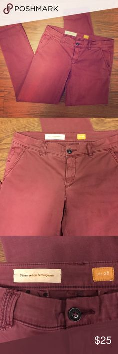Pilcro Anthropologie Women's Size 28 Chino Pants Great pre-owned condition Waist 16 in Length 36 in inseam 29 in Anthropologie Pants