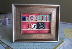 This blog has some of the cutest ideas for frames!
