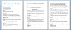 Professional Photography Contract Template Free