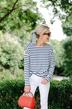 56 Stunning Stripes Outfit Ideas For Spring And Summer 30 Outfits, Preppy Outfits, Fashion Outfits, Fashion Hats, Southern Style Outfits Preppy, Preppy Wardrobe, Fashion Ideas, Nautical Outfits, Preppy Dresses