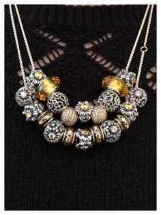PANDORA. Gorgeous Golden Tone Necklaces.
