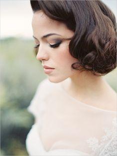 Amy Clarke Makeup is flawless and stunning #makeup #hair #erichmcveyworkshop http://www.weddingchicks.com/2013/11/11/elegant-bridal-looks/