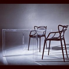 MASTERS CHAIRS and INVISIBLE TABLE by KARTELL