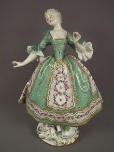 Gorgeous Antique Sevres French Porcelain Lady Dresden Figurine | eBay