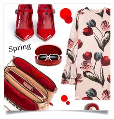 """""""Red spring"""" by anduu19 on Polyvore featuring Christian Louboutin, Mother of Pearl, Dolce&Gabbana, ZeroUV and springdresses"""