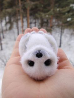Little seal Icy felted toy by alenamordvinova on Etsy, $35.00