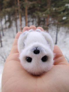 Little seal Icy felted toy by alenamordvinova on Etsy, $35.00