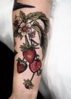 M Tattoos, Wrist Tattoos, Cute Tattoos, Beautiful Tattoos, Sleeve Tattoos, Flower Tattoos, Whimsical Tattoos, Fruit Tattoo, Candy Tattoo