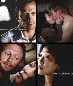 My loves--they are too much for one girl. Cristina And Owen, Cristina Yang, You Changed My Life, Living Without You, Hot Couples, First Girl, Grey's Anatomy, Amelia, Movies And Tv Shows