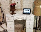 Painted Cottage Chic Shabby Romantic Desk