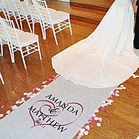 Embracing Hearts Personalized Aisle Runner