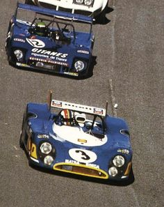 (3) François Cevert / Jean-Pierre Beltoise / Henri Pescarolo - Matra-Simca MS670 - Équipe Matra-Simca - (12) Reine Wisell / Jean-Louis Lafosse / Hughes de Fierlant - Lola T282 Ford - Scuderia Filipinetti - 24 Hours of Daytona - 1973 World Championship for Makes, round 1