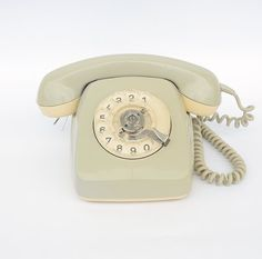 Vintage Grey Dial Rotary Phone Old Telephone 70s by GeorgiVintage, $45.00