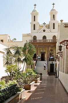 Koptisch-Orthodoxe Kirche der Jungfrau Maria, genannt «Hängende Kirche», Kairo, Ägypten, ursprünglich erbaut im 3. oder 4. Jahrhundert.
