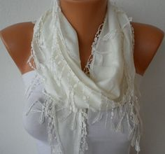 Amaranth Cotton Scarf,teacher gift,lightweight spring summer Cowl Scarf, Gift For Her Mom Women Fashion Accessories, Bridesmaid Gift Lace Scarf, Pashmina Scarf, Cotton Scarf, Cowl Scarf, Belle Blue Dress, White Scarves, How To Wear Scarves, Outfit Combinations, White Fashion