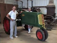 An antique Oliver tractor that has been restored, and is on display at the Collin County Farm Museum in McKinney Texas.