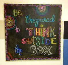"Wildcats Create!: Artful Attitudes... new bulletin ""black"" boards! painting with Chalkboard paint"