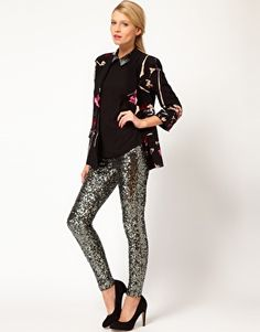 French Connection Sequin Legging