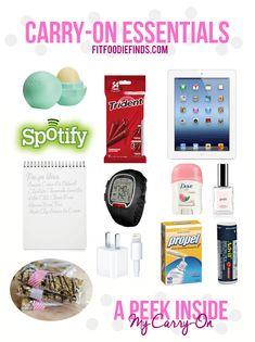Carry-On Essentials for a Seamless Flight via FITFOODIEFINDS.COM