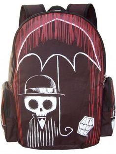 """""""Blood Storm"""" Backpack by Akumu Ink (Black/Red)"""