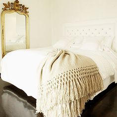 We love Sefte throws. This one is available at the Design Studio