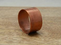 Men's Monogram Initial Ring Personalized Gift for Him by MerCurios, $30.00 7 year anniversary gift idea #copper #anniversary