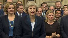 """Theresa May promises to build a """"better Britain"""" and to make Brexit a """"success"""" as she prepares to succeed David Cameron as UK prime minister. Uk Politics, David Cameron, Theresa May, Bbc News, Current Events, Britain, Inspiring Women, Prime Minister, Lady"""