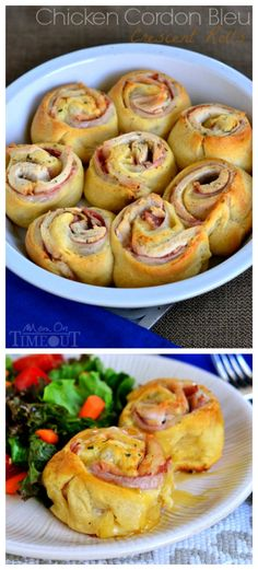Chicken Cordon Bleu Crescent Rolls make dinner easy and your family happy! | MomOnTimeout.com