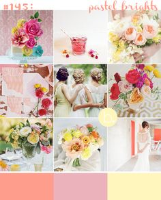 Pastel Brights the perfect balance of colour! just throw in more sky blue/ lavender colours and you'll be there! Wedding Blog, Destination Wedding, Dream Wedding, Wedding Ideas, Floral Wedding, Wedding Flowers, Pastel Colors, Colours, Lavender Color