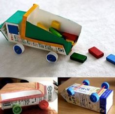 Dump truck birthday party ideas easter eggs 60 new Ideas Kids Crafts, Preschool Crafts, Projects For Kids, Diy For Kids, Craft Projects, Recycled Toys, Recycled Crafts, Craft Activities, Toddler Activities