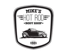 Mike's Hot Rod Body Shop Logo Design Details