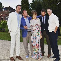 Best men: Guy's leading men from The Man From U.N.C.L.E. Armie Hammer, David Beckham and Henry Cavill were on the star-studded guest list