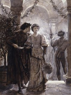Frank Dicksee Painting - Romeo And Juliet by Frank Dicksee