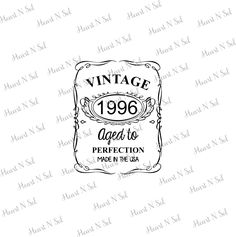 21st Birthday, 1996, Aged to perfection, Vintage, Birthday, SVG, EPS, DXF, Digital file, Instant Download, Silhouette, Cricut by HeartNSolDesigns on Etsy