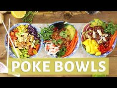 Poke Bowl, Healthy Food Alternatives, Food Drawing, Asian Cooking, Food Truck, Healthy Eating, Appetizers, Cooking Recipes, Dinner
