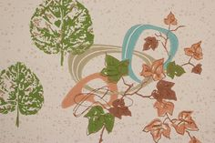 1950's Vintage Wallpaper Retro Mid Century by RosiesWallpaper