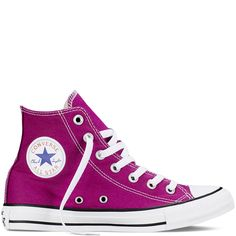 Converse - CT All Star Fresh Hi Canvas Sneakers (Big Kid) - Pink Sapphire