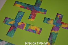 This Stained Glass Cross craft is an ideal Easter craft for kids!