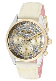 Paris Hilton Women's Beverly Silver Glitter Dial Ivory Pearl Tone Genuine Calf Leather discovered on Fantasy Shopper Ivory Pearl, Paris Hilton, Silver Glitter, Calf Leather, Omega Watch, Calves, Pearls, Watches, Stuff To Buy