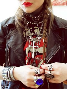Biker and Jewels Grunge Goth Dark Fashion #NitroFash