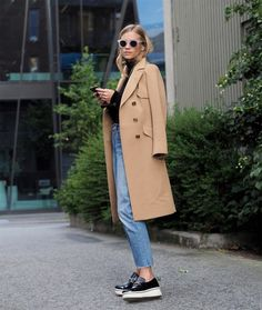 Would replace the wool coat with a light weight trench