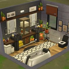 Sims 3 Houses Ideas, Sims 4 Houses Layout, Sims Ideas, House Layouts, Minecraft House Plans, Sims 4 House Plans, Sims 4 House Building, Small Modern House Plans, Sims 4 Bedroom